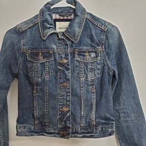 Abercrombie Kids Distressed Button Up Jacket XL